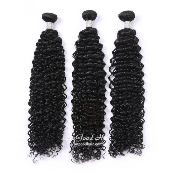 3 Brazilian Virgin Human Hair Bundles Deep Curly Natural Color 10-30inch SoGoodHair--SG2141 - sogoodhair