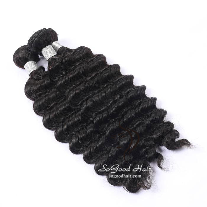 3 Brazilian Virgin Human Hair Bundles Deep Wave Natural Color 10-30inch SoGoodHair--SG2121 - sogoodhair