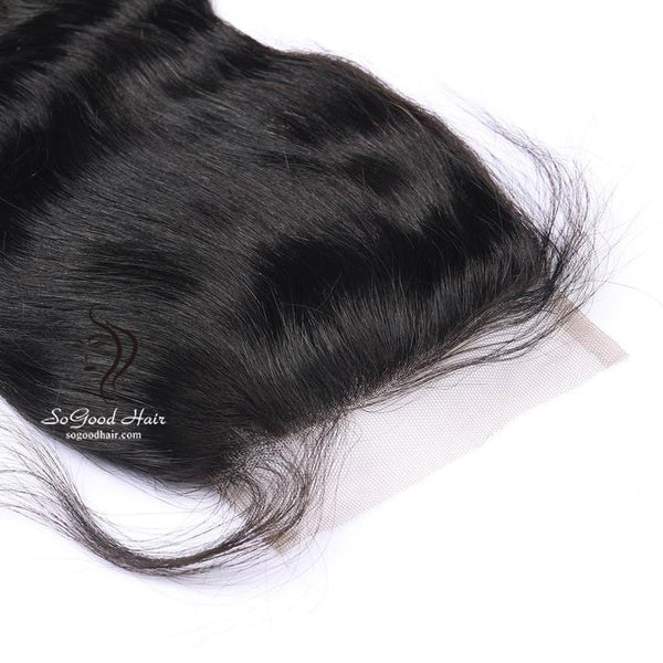 Brazilian Hair 4X4 Top Lace Closure Body Wave Natural Color SoGoodHair--SG3111 - sogoodhair