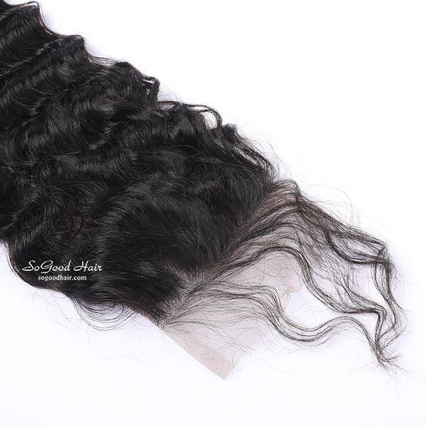 Brazilian Hair 4X4 Top Lace Closure Deep Wave Natural Color SoGoodHair--SG3121 - sogoodhair