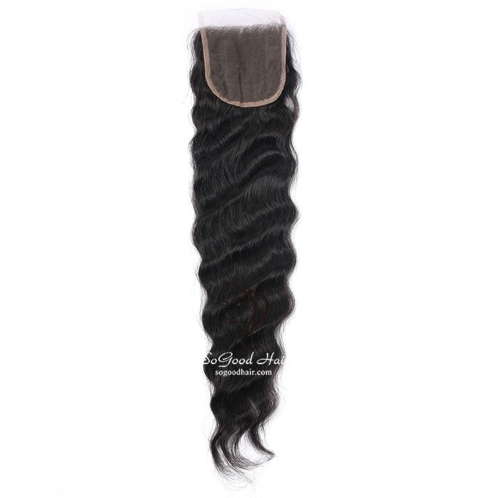 Brazilian Hair 4X4 Lace Closure Loose Wave Natural Color SoGoodHair--SG3141 - sogoodhair