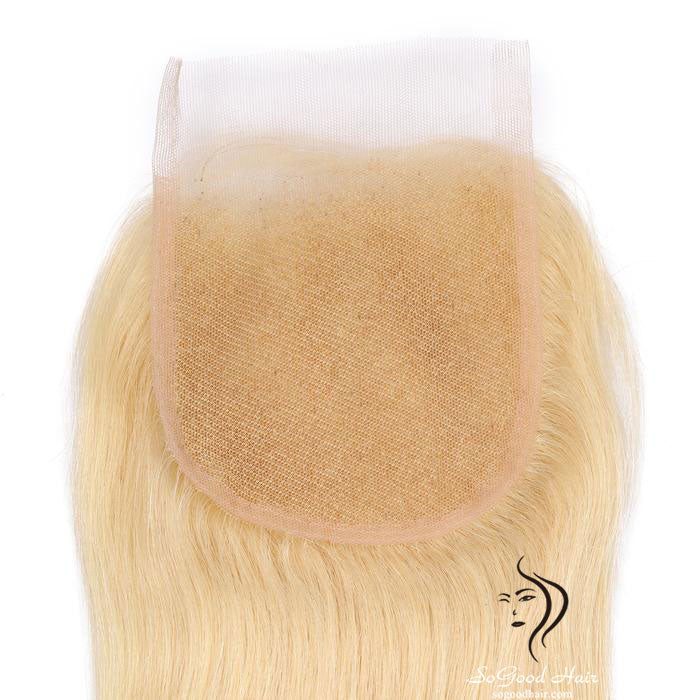 Brazilian Hair 4X4 Lace Closure Straight Blonde 10-20inch SoGoodHair--SG3201 - sogoodhair