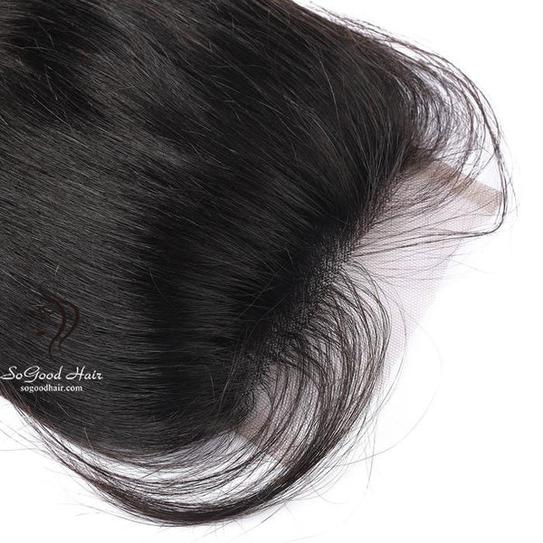 Brazilian Hair 4X4 Top Lace Closure Straight Natural Color SoGoodHair--SG3101 - sogoodhair