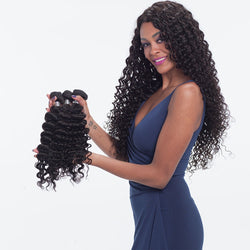 Brazilian Virgin Hair Weave Deep Wave Natural Color Human Hair Bundles 10-30inch SoGoodHair--SG2122 - sogoodhair