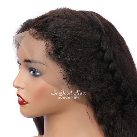 Lemon Kinky Straight 4x4 Glueless Lace Closure Wig