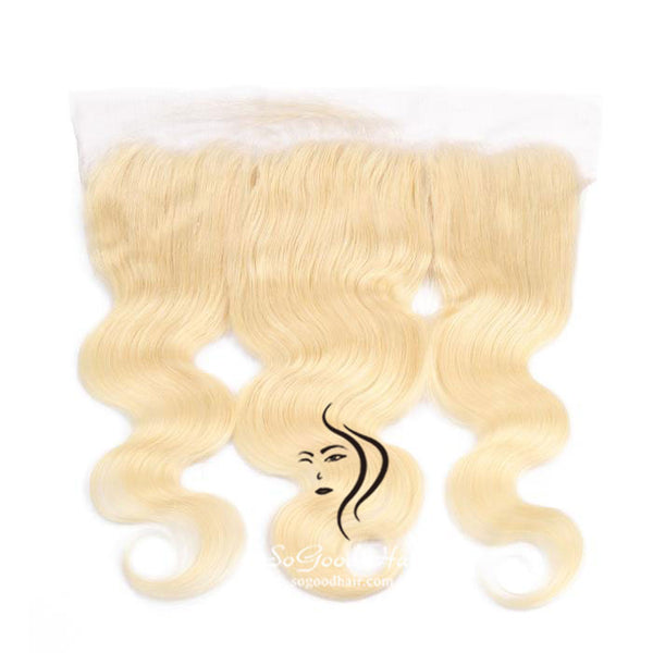 10-20 Inch 13x4 Blonde Body Wave Lace Frontal - sogoodhair
