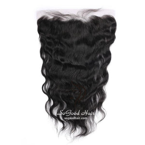 10-20 Inch Natural Black Body Wave 13X4 Lace Frontal - sogoodhair