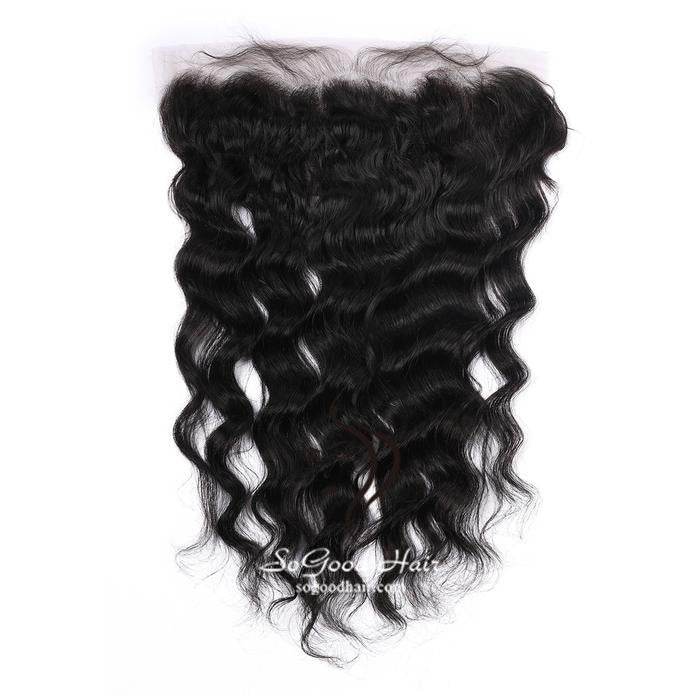 13X4 Loose Wave Natural Black Lace Frontal - sogoodhair