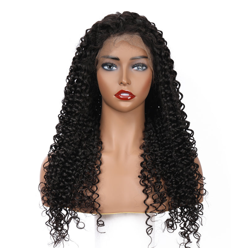 Deep Curly | Pre-Made 13*6 Fake Scalp Lace Frontal Wig - sogoodhair