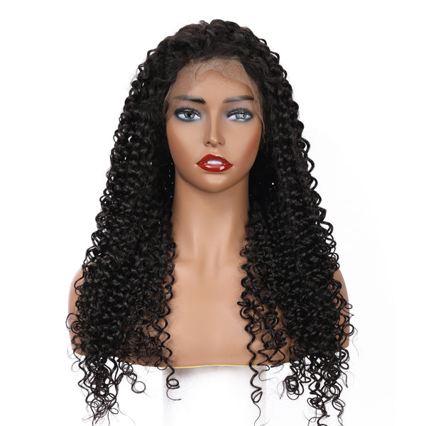 Deep Curly Pre-Made 13x4 Fake Scalp Lace Frontal Wig