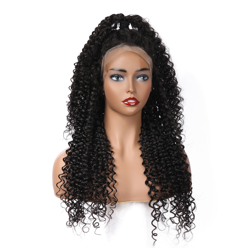 Deep Curly | Pre-Made 13x6 Fake Scalp Lace Frontal Wig - sogoodhair