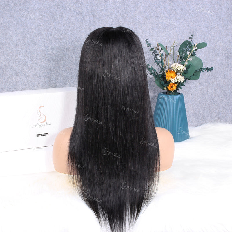 Muse 13x4 Lace Front Straight Piano Keys Elastic Band Fake Scalp Wig