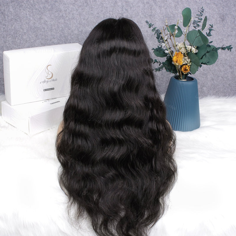 Ashail Body Wave With Bang | 13x4 Pre-Made Fake Scalp Lace Frontal Wig