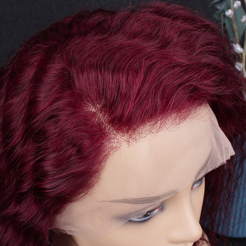 Ariel Burgundy 99J Curly Lace Frontal Wig