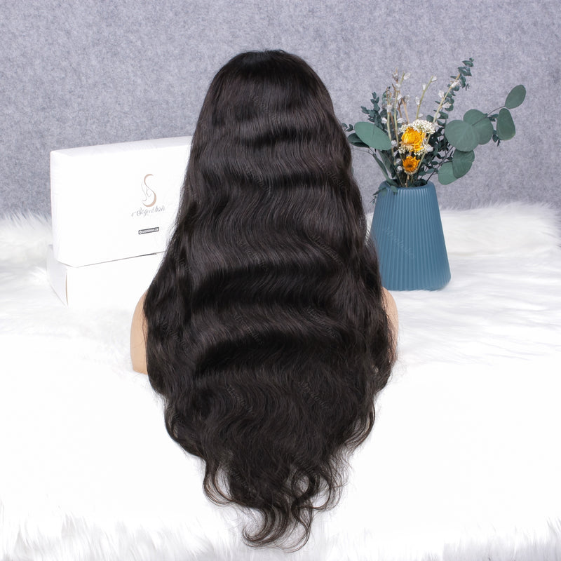Ashail Body Wave With Bang | 13x4 Lace Front Wig - sogoodhair