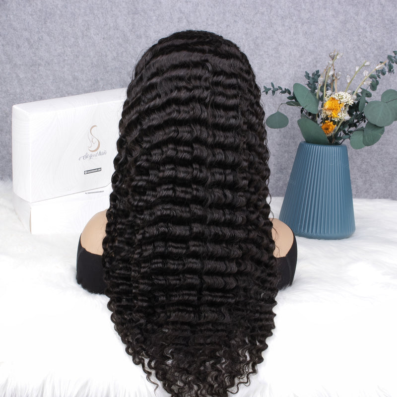 Beyonce Deep Wave Fake Scalp 360 Frontal Wig