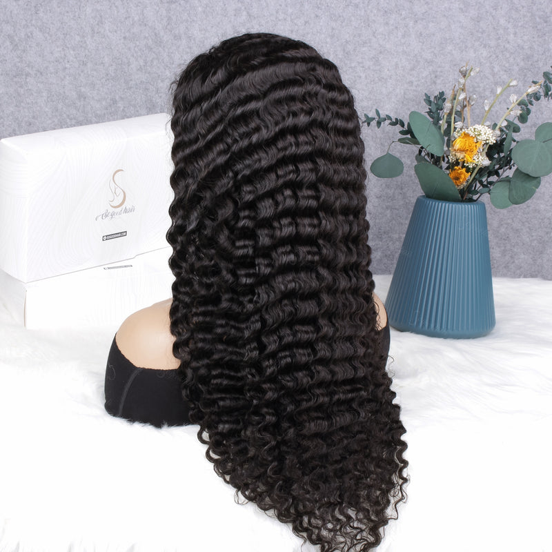 Beyonce Deep Wave 4x4 Closure Wig| Pre Plucked& Bleached