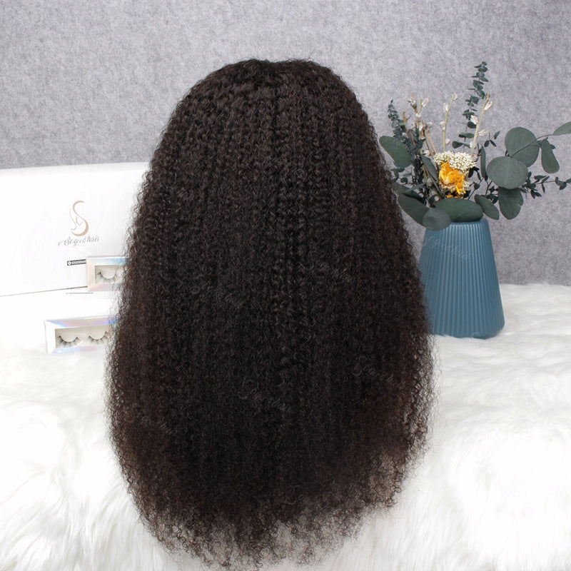 Afro Curl 360 Lace Frontal Wig| Pre-plucked& Bleached Natural Hairline