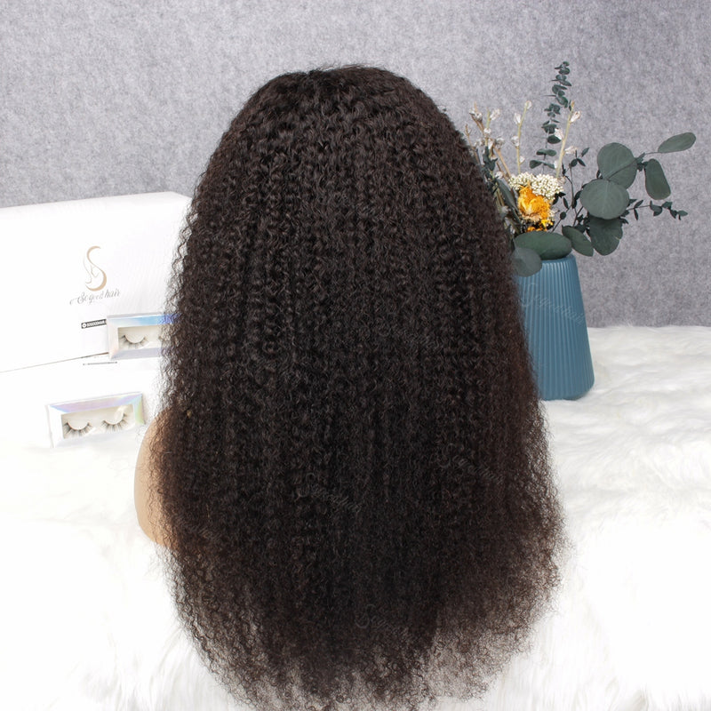 Afro Curl 13x4 Lace Front Wig Invisible Knots