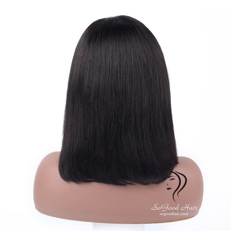 Fake Scalp BOB Lace Front Wig Straight Natural Color Pre Plucked hairline SoGoodHair--BOB2100 - sogoodhair