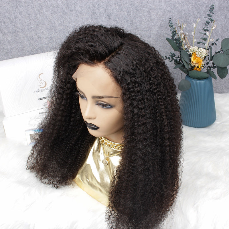 Afro Curl 13x4 Lace Front Wig| Pre-plucked& Pre-bleached| Eva Williama
