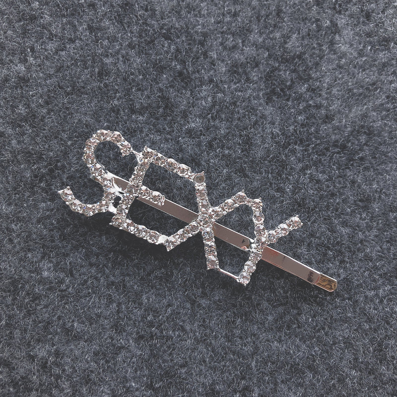 Silver Sexy Rhinestone Diamond Hair Clip - sogoodhair