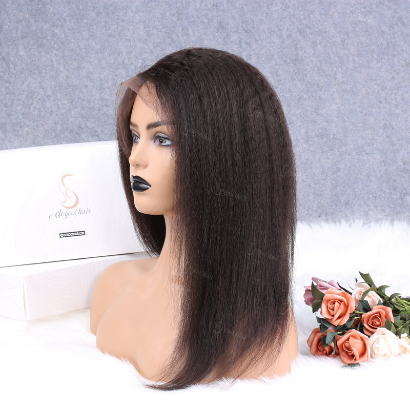 Lemon Kinky Straight Full Lace Wig - sogoodhair