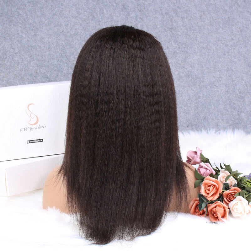 Lemon Kinky Straight 13x4 Lace Front Wig - sogoodhair