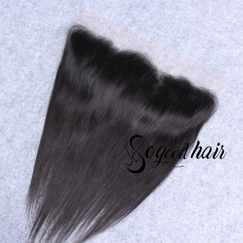 13×4 Straight HD Swiss Lace Frontal | Pre-plucked Hairline with Baby Hair - sogoodhair