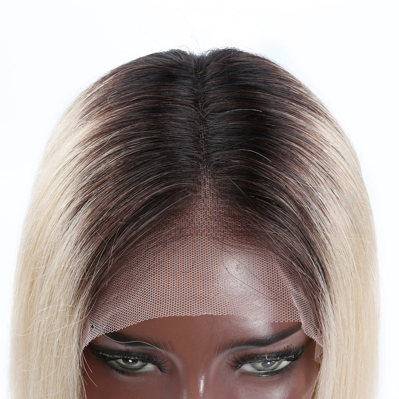 Ombre Blonde Lace Front Bob Wig | 150% Density - sogoodhair