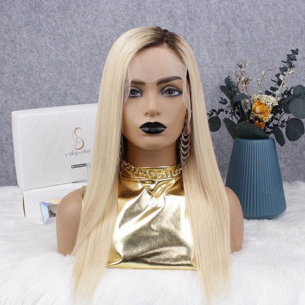 Ombre Blonde T4/613 Straight 13x4 Lace Front Wig