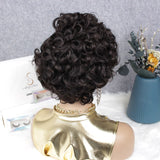 Short Curly Pixie Cut Human Hair Lace Wig