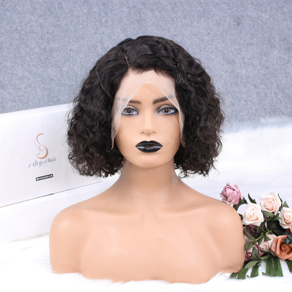 Effortless Curly BOB 13X4 Lace Front Wig - sogoodhair