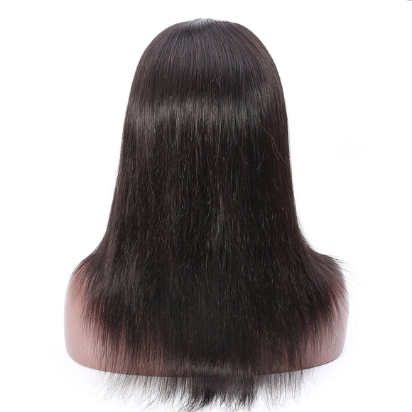 1B Off Black Human Hair Lace Front Wig - SC007