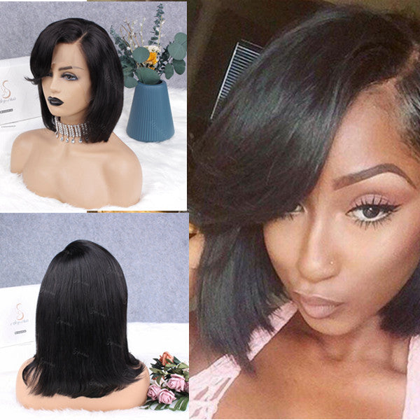 Kyra Side Part Bang Bob Lace Front Wig