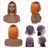 200% Density 14 Colors Trendy Bob Human Hair Frontal Wig