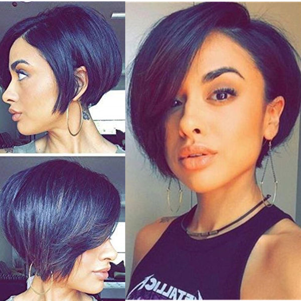 Angle Bob| Pixie Cut Virgin Human Hair Lace Wig - sogoodhair