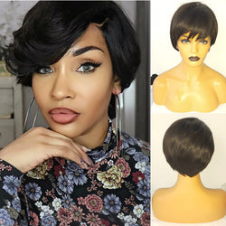 Wispy Bang Pixie Cut Human Hair Lace Wig