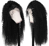 "Jet Black Brazilian Curly 18"" 150% Density Lace Front Wig"