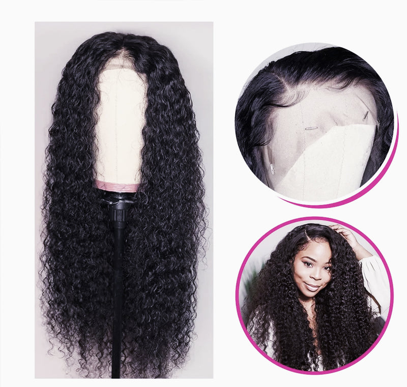 18 Inches Jet Black Brazilian curly Lace Front Wig | $60 OFF | Weekend Sale
