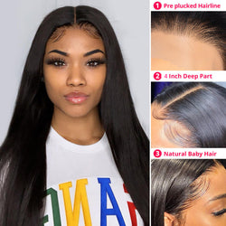 Muse Straight 4x4 Closure Wig| Pre Plucked& Bleached