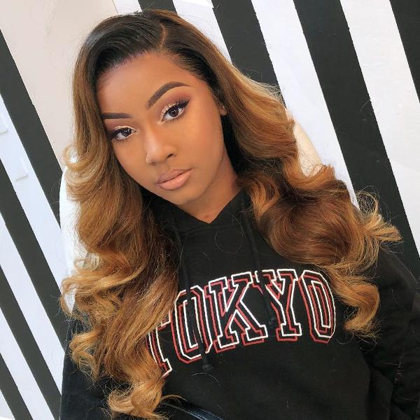 Honey Brown Ombre 180% Density Frontal Lace Wig - sogoodhair