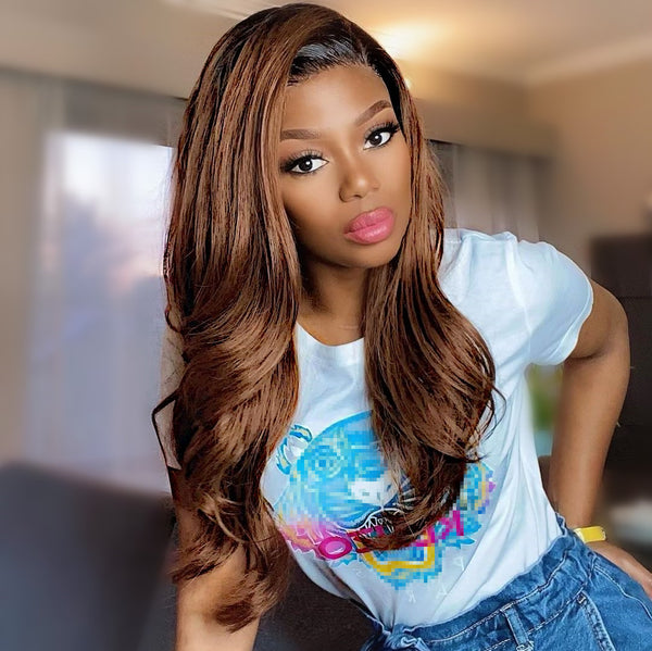 Ashley Chestnut Brown 180% Density Frontal Wig