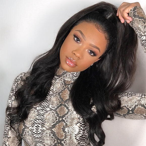 Lynsey 250% Straight Lace Front Wig +1pc Single Bundle - sogoodhair