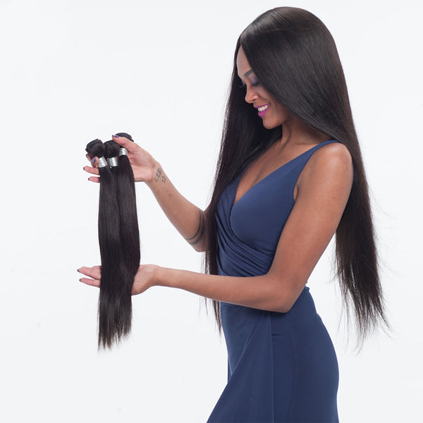3 Brazilian Virgin Human Hair Bundles Straight Natural Color Human Hair Bundles  SoGoodHair--SG2101 - sogoodhair
