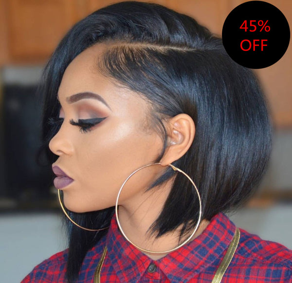 Side Part Bob Lace Front Wig - sogoodhair