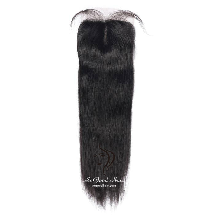 Straight 4 X4 Top Silk Base Lace Closure | Natural Black - sogoodhair