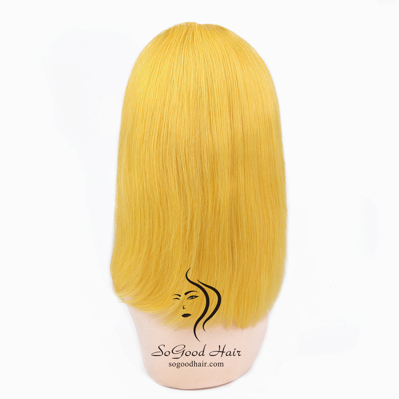 Yellow Bob Wig| Lace Front Wig |Pre-Plucked - sogoodhair
