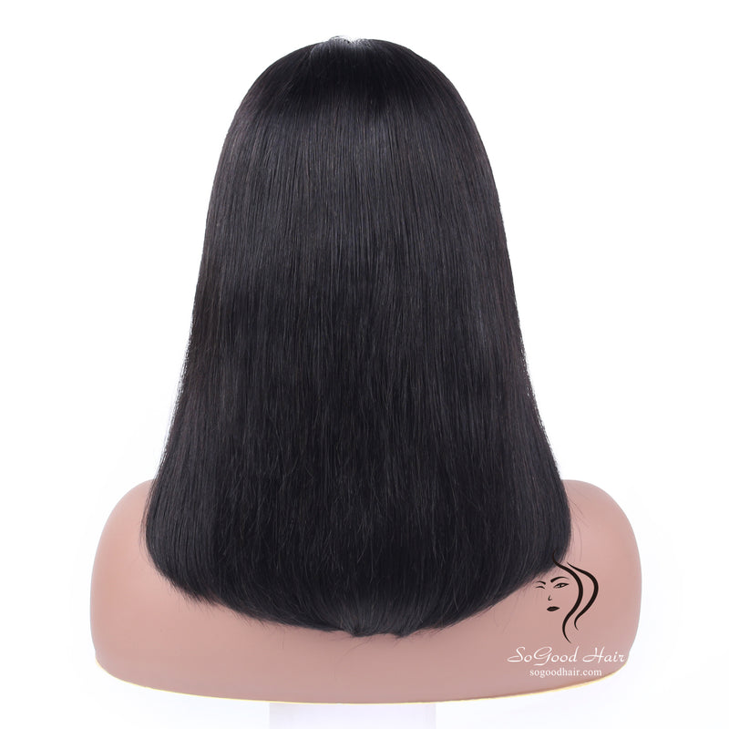Dora Bob Wig With Bang| Lace Front Wig| Pre-plucked - sogoodhair