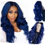 150% Density Electric Blue | Body Wave Lace Frontal Wig - sogoodhair